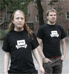 Peter Sunde and Fredrik Neij